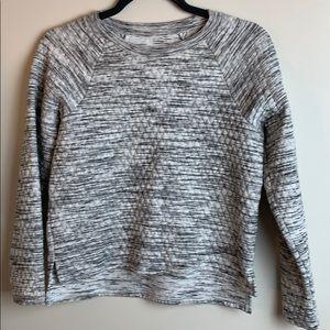 Zella Split Hem Quilted Sweatshirt